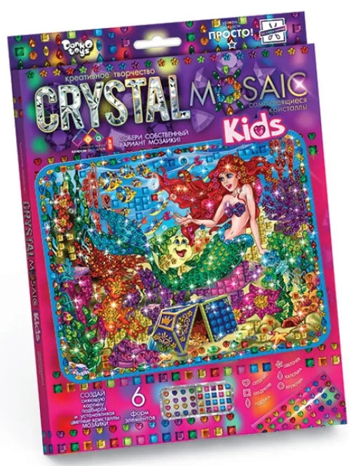 25-518-7 Набор креативного тв-ва Crystal Mosaic Kids Русалоч