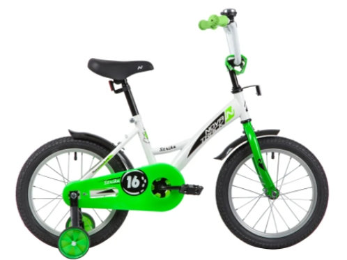 17-119 Велосипед 16 Novatrack STRIKE БЕЛЫЙ/ЗЕЛЕНЫЙ WTG20