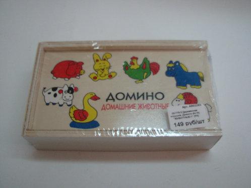 03-779-3 Деревянная игрушка. Домино (9х15) ЖИВОТНЫЕ-1 (РК)