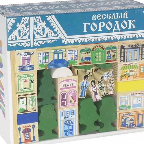 62-075-1 КОНСТРУКТОР ВЕСЕЛЫЙ ГОРОДОК 56 дет(Т)