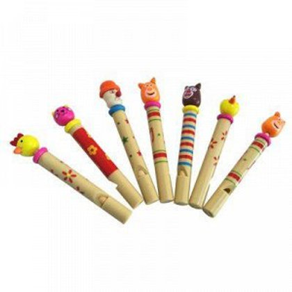 03-783-8 Деревянная игрушка. Свисток ЗВЕРЯТА 10 см (РК)
