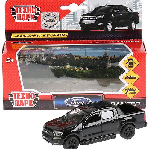 14-434-44 Машина металл FORD ranger пикап черный 12см. откры