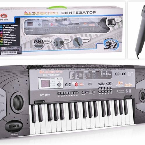 11-414-19 Синтезатор с микрофоном. 37 клавиш.РАДИО