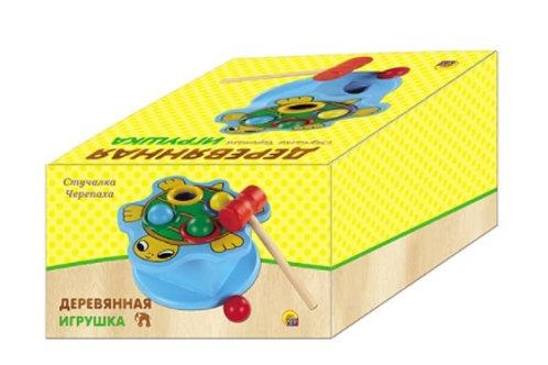 03-776-9 Деревянная игрушка. Стучалка ЧЕРЕПАХА (РК)