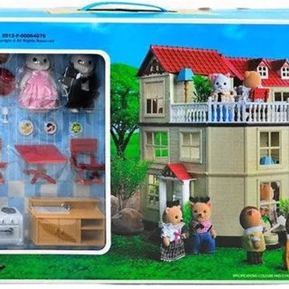 10-402-77 Игрушка домик с мебелью 012-10