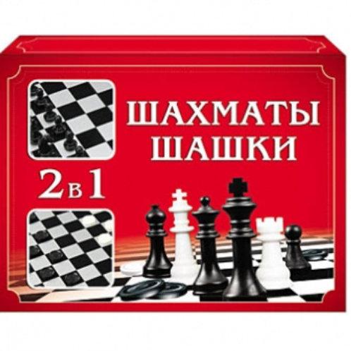 03-318 ШАХМАТЫ. ШАШКИ (мини-коробка) (РК)