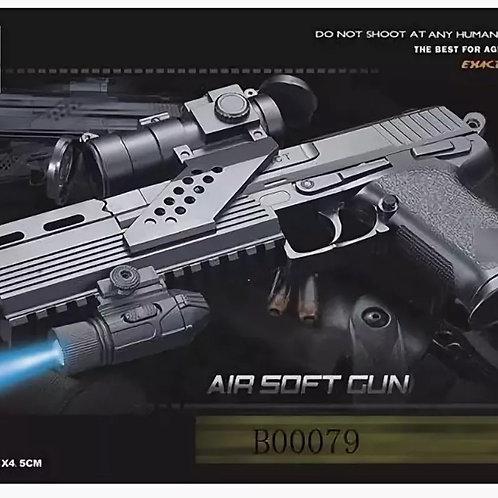11-285-91 Игрушка пистолет с фонариком. в коробке