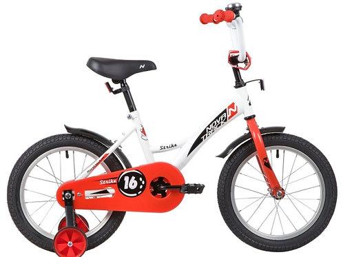 17-119-1 Велосипед 16 Novatrack STRIKE БЕЛЫЙ/КРАСНЫЙ WTG20