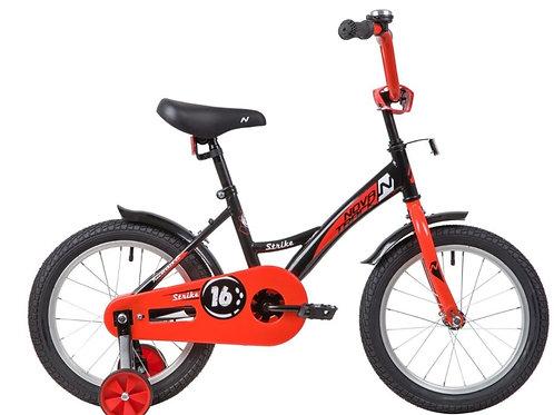 17-119-3 Велосипед 16 Novatrack STRIKE ЧЕРНЫЙ/КРАСНЫЙ WTG20