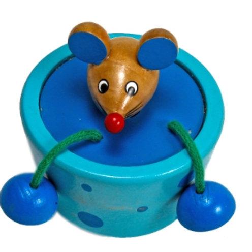 03-784-01 Деревянная игрушка. Колотушка МЫШКА 7 см
