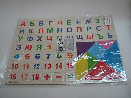 03-769-961 Дерев.пазл-рамка учимся считать.алфавит числа №2