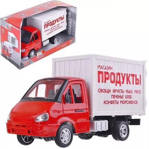 10-629 Инерц. Фургон Продукты со звуком и светом 24см