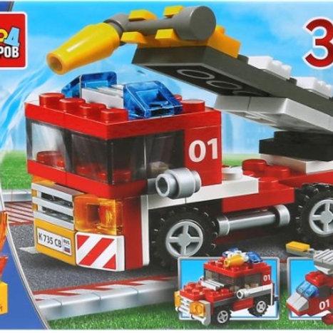14-275-712 КОНСТР.ГМ пожарная машина 3в1. 69дет.