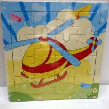 03-769-797 Деревянная пазл-рамка (15x15) (6 эл) ВЕРТОЛЁТ