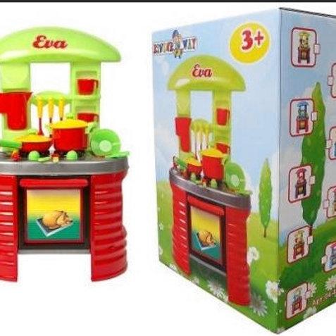 56-430-93  Кухня ЕВА с посудой 46.5x78x28см в коробке (2шт)