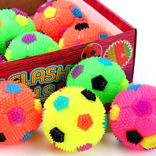 10-978-2 Мяч Ежик прыгун светящийся с писком малый с резинко