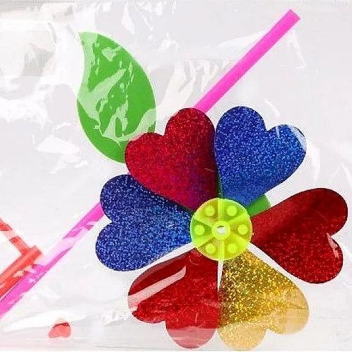 25-950-5 Вертушка цветик с лепестками 35см голограмма