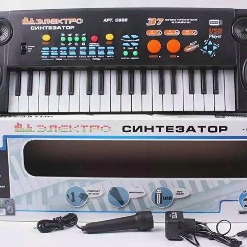 11-414-18 Синтезатор с микрофоном. 37 клавиш.МР3. USB