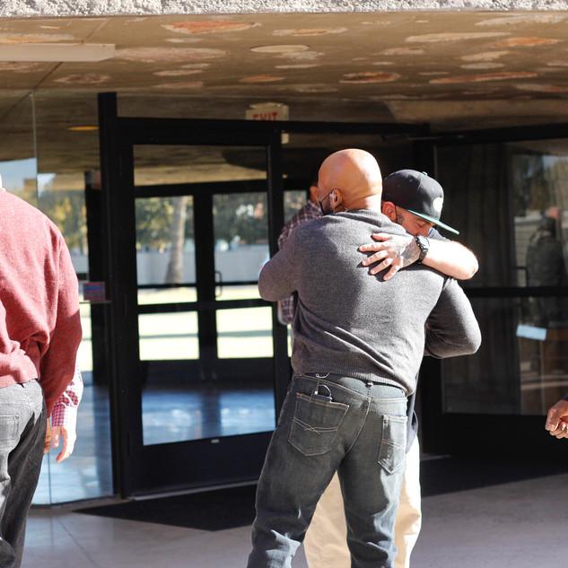 Hugs on the Plaza