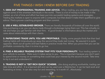 5 Things I wish I knew before I started Day Trading