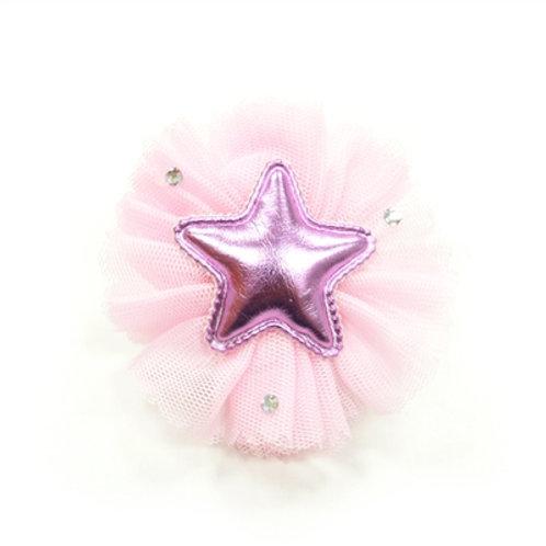pink dog bow