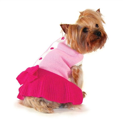 cute pink dog dress