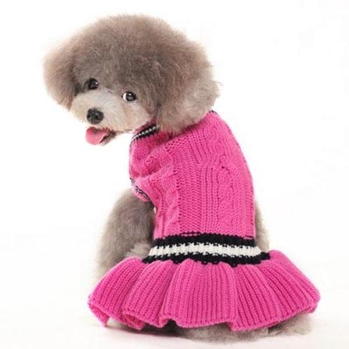 sweater dog dress