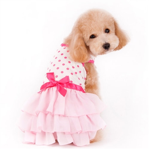 summer ruffle dog dress