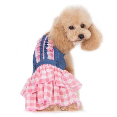 denim summer dog dress