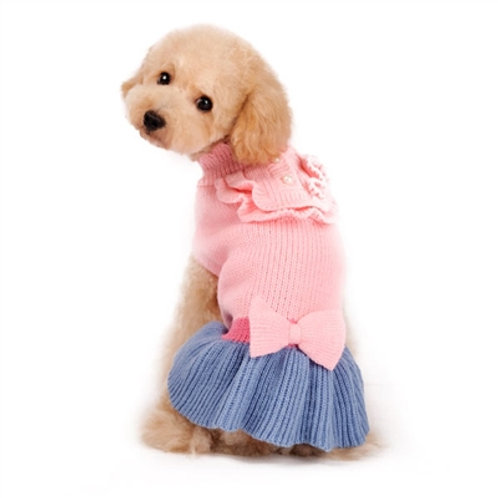 dog sweater dress