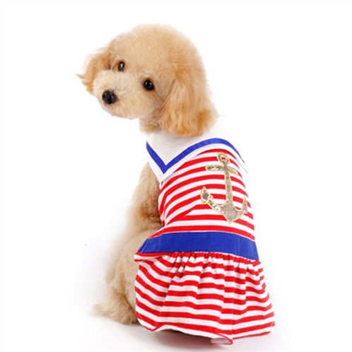 nautical summer dog dress