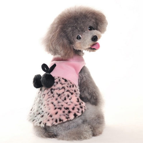 pink leopard dog dress