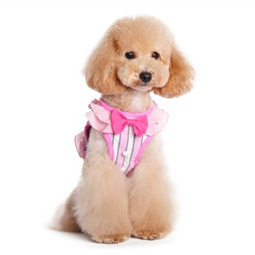 Pink Flower Dog Harness