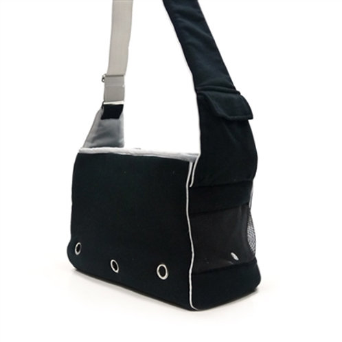 Boxy Messenger Bag - Black