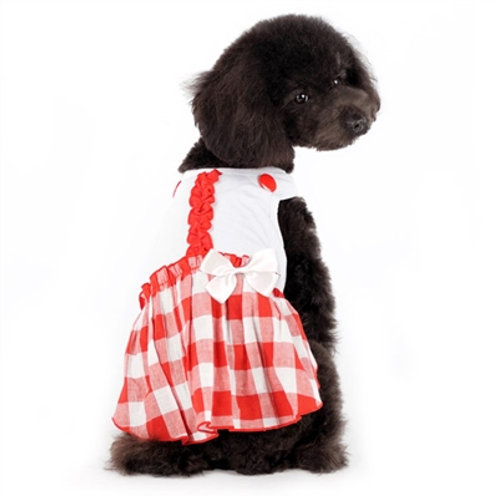 plaid summer dog dress