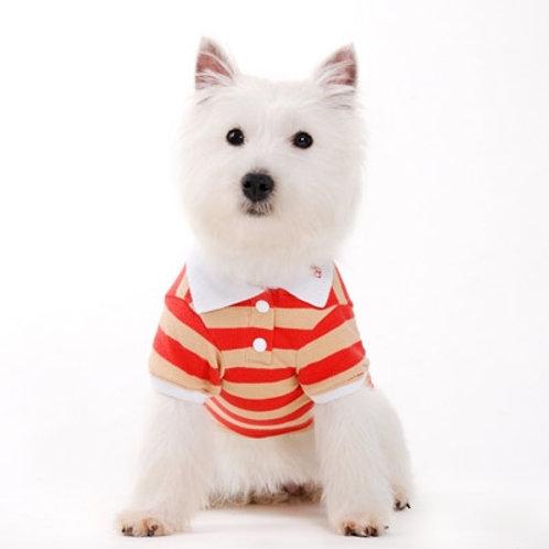 Stripe Polo Shirt Red