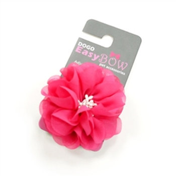 easybow pink flower dog bow
