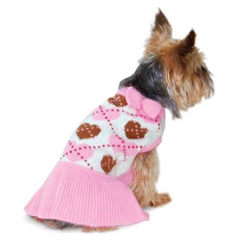 pink dog sweater dress