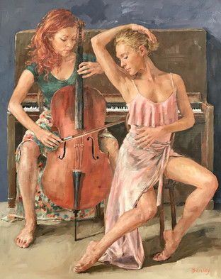 "Barefoot Cello 30"" x 24"""