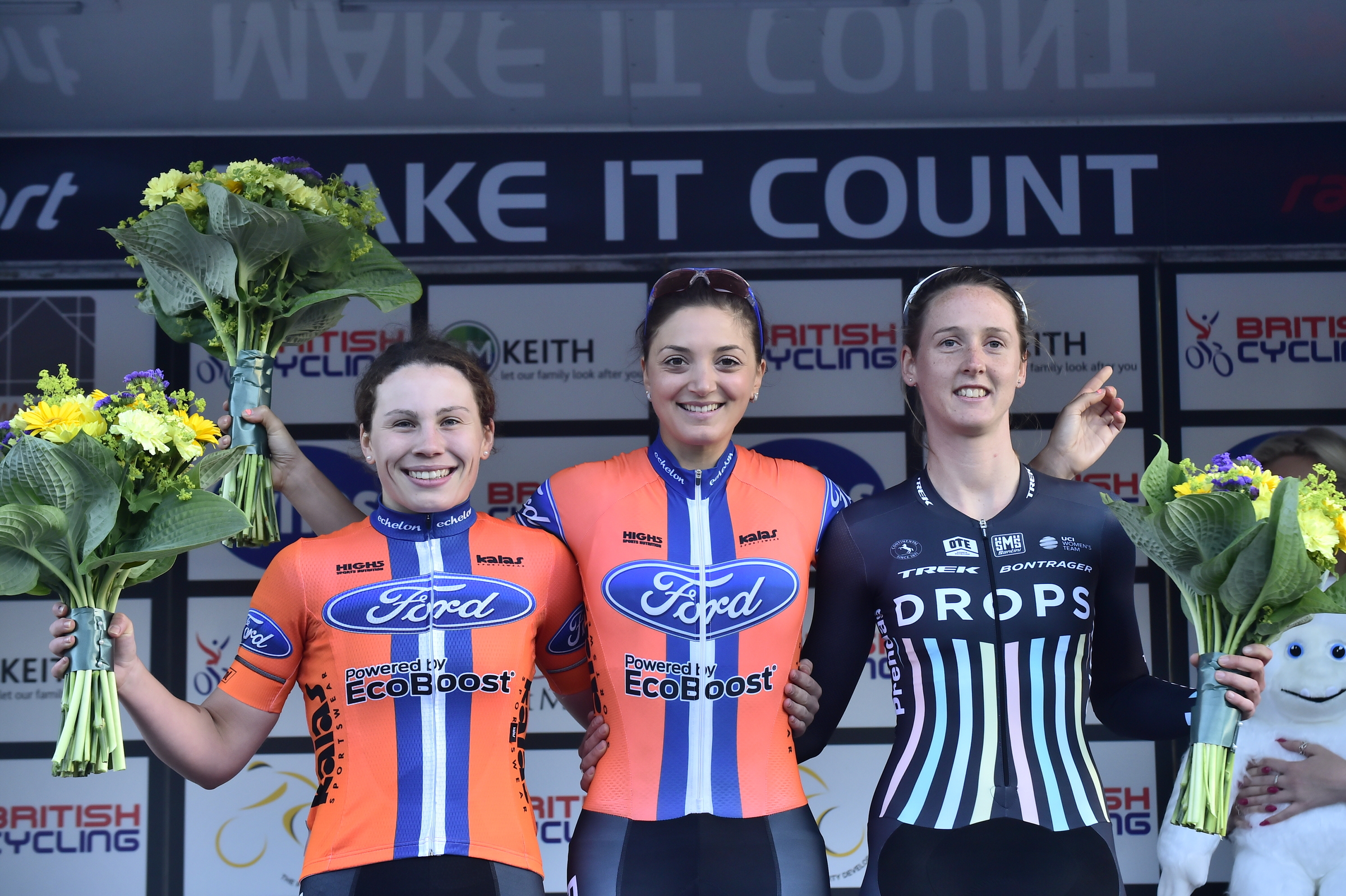 Pinsent Masons Women's GP Podium