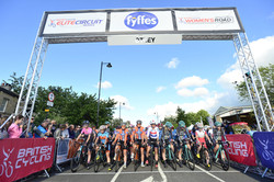 The Women line up for the Otley GP