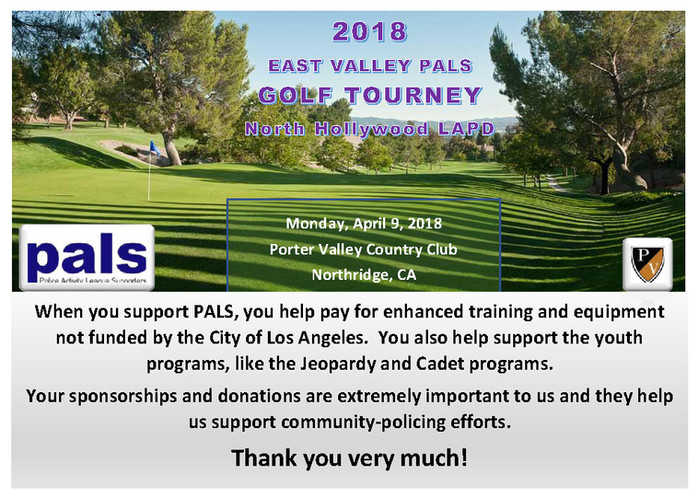 2018 PALS Golf Tourney
