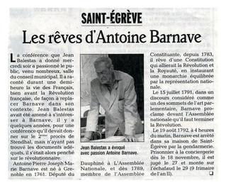Barnave à Saint-Egrève
