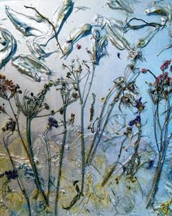 Schildering met wilde bloemen