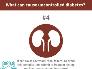 What can cause uncontrolled diabetes? #4