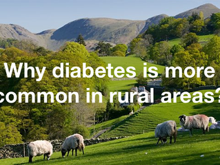 Why diabetes is more common in rural areas?