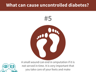 What can cause uncontrolled diabetes? #5