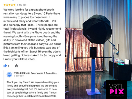 Sweet 16 Photo Booth for Rent