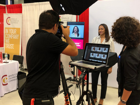 Headshot Studio Booth at Miami Beach Convention Center for Trade Shows