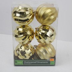 Gold Shatter Proof Ornaments